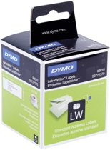 Dymo 99010 Address Labels - Wit / 89mm X 28mm / 130 Etiketten