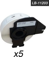 5x Brother DK-11203 Compatible voor Brother 's range of QL printers, 17mm * 87mm