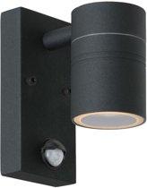 Lucide ARNE-LED - Wandspot Buiten - Ø 6,3 cm - LED - GU10 - 1x5W 2700K - IP44 - Zwart