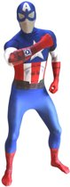 Morphsuits™ Captain America Zapper Morphsuits - SecondSkin - Verkleedkleding - 135/150 cm