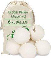 Droger Ballen Wol - Wasdroger Herbruikbare Wollen Droger Ballen - Droogballen Voor Snellere Droogtijd- Set 6 Stuks - Superiox