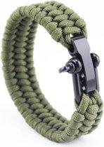 Paracord armband Groen - RVS verstelbare sluiting