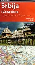 Landkaart - wegenkaart Servie - Montenegro kaart