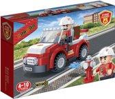 BanBao Brandweer Brandweerman- en  auto - 7117