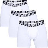 Under Armour Charged Cotton 6In 3 Pack Heren Boxershort - Wit - Maat M