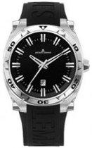 Horlogeband Jacques Lemans 1-1365 Rubber Zwart 19mm