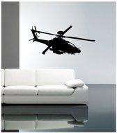 Coart Muursticker Helicopter - zwart velours - 83 x 87 cm