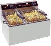 CaterChef elektrische friteuse 5 + 8 liter