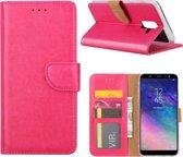 Xssive Hoesje voor Samsung Galaxy J8 2018 - Book Case - Pink