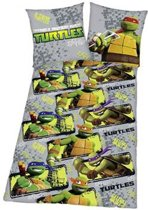 Turtles - Dekbedovertrek - Eenpersoons - 140x200 cm + 1 kussensloop 60x70 cm - Multi
