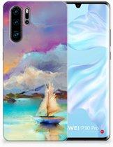 Huawei P30 Pro Uniek TPU Hoesje Boat