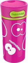 Fruitfriends Drinkbeker Push - RVS - 300 ml - Pink