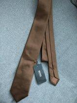 Hugo Boss Zijden stropdas bruin