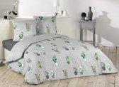 Cactus dekbedovertrek - lits-jumeaux met met 2 kussenslopen