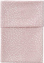 Cottonbaby Ledikantlaken hagel roze