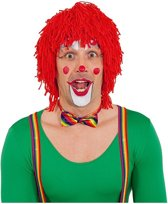 Rode clownspruik van wol