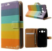 Colorful wallet hoesje Samsung Galaxy Ace 4 G357FZ