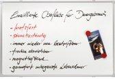 Whiteboard 90 x 120 cm emaille krasvast beschrijfbaar pennengoot aluminium lijst 25 jaar garantie Franken