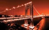 Fotobehang Brug | Oranje | 312x219cm