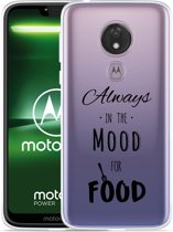 Moto G7 Power Hoesje Mood for Food Black