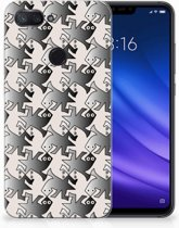 Xiaomi Mi 8 Lite Uniek TPU Hoesje Salamander Grey