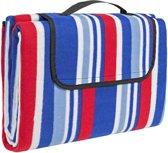 TecTake - Picknick deken / kleed 200x150cm blauw/rood/wit 401599