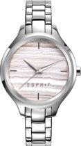 Esprit ES109602002 Horloge - Dames - Zilverkleurig - Ø 34 mm