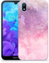 Huawei Y5 (2019) Hoesje maken Pink Purple Paint