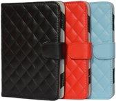 Designer Book Cover Case Hoes voor Sony Prs T3 met ruitmotief , rood , merk i12Cover