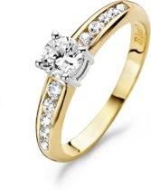 Blush Ring 1154BZI -  Geel en Wit Goud (14Krt.) met Zirconia