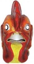 Plastic hanen masker voor volwassenen - dieren gezichtsmasker