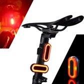 XANES Ultraheldere LED Fietsachterlicht - USB oplaadbaar - 100 Lumen -  Oplaadbare Fietslamp