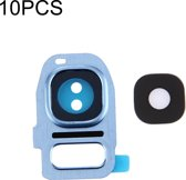Let op type!! 10 PCS Camera Lens Covers for Galaxy S7 Edge / G935(Blue)
