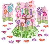 geboorte meisje - tafel decoratie kit