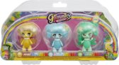 Glimmies Abella / Lentice / Librille - Blister 3 Glimmies Rainbow Friends