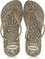 Havaianas Slim Animals Dames Slippers - Beige/Rose Gold/Rose Gold - Maat 39/40