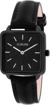 Clueless - Clueless horloge met zwarte leren band