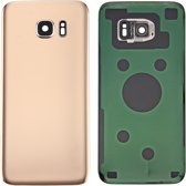 Let op type!! Original Battery Back Cover with Camera Lens Cover for Galaxy S7 Edge / G935 (Gold)