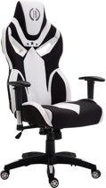 Clp Racing bureaustoel FANGIO gaming chair - Stof - zwart/wit