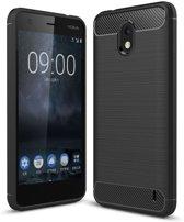 Nokia 2 hoesje - Rugged TPU Case - zwart