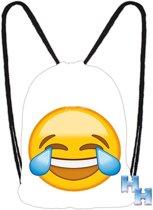 "Emoji - Emoticon - Smiley - Gym - Zwem - Touwtjes tas- ""Lol"""