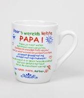 Kleur Tekst Mok - Papa