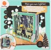 Decotime maak je eigen kerst-lightbox rendieren in het bos van MDF