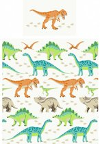 1 persoons kinderdekbedovertrek grote dinosaurussen