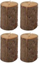 4 Zweedse fakkels / boomstam tuinfakkels