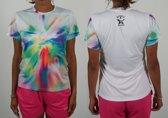 Bones Sportswear Dames T-shirt Rainbow maat S