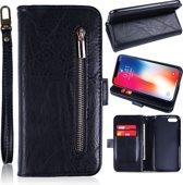 H.K. Zwart rits boekhoesje capabel voor maar liefst 12 pasjes geschikt voor Samsung Galaxy A50
