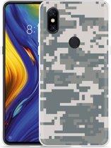 Xiaomi Mi Mix 3 Hoesje Army Digi Camouflage