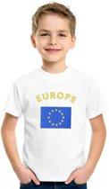 Europe shirt kinderen Xs (110-116)
