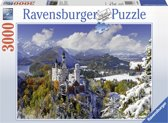 Ravensburger Slot Neuschwanstein in winter - Puzzel van 3000 stukjes
